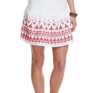 VINYARD VINES embroidered skirt